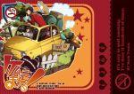 bird car cat engrish fiat fiat_500 hat ishikawa_goemon_xiii jigen_daisuke lupin_iii motor_vehicle nasubi_(pixiv) nasubi_(w.c.s) ranguage scarf sideburns vehicle