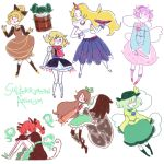 6+girls animal_ears arm_cannon arm_warmers black_legwear black_wings blonde_hair blush bobby_socks bow braid brown_hair bucket cape cat_ears cat_tail dress eyeball frills green_eyes green_hair hair_bobbles hair_bow hair_ornament hair_ribbon hairband hat heart heart_of_string highres horn hoshiguma_yuugi in_bucket in_container kaenbyou_rin kisume kneehighs komeiji_koishi komeiji_satori kurodani_yamame long_hair mizuhashi_parsee multiple_girls multiple_tails open_mouth pink_legwear pointy_ears ponytail purple_hair red_eyes redhead reiuji_utsuho ribbon scarf sheer_clothes short_hair siblings sisters skirt smile socks subterranean_animism tail thigh-highs third_eye touhou twin_braids twintails vest weapon white_legwear wide_sleeves wings wrist_cuffs zettai_ryouiki