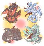 atusix blaster_dragon_ruler_of_infernos blue_eyes blush burner_dragon_ruler_of_sparks dragon duel_monster happy horns lightning_dragon_ruler_of_drafts lying playing reactan_dragon_ruler_of_pebbles red_eyes redox_dragon_ruler_of_boulders sharp_teeth sleeping stream_dragon_ruler_of_droplets tempest_dragon_ruler_of_storms tidal_dragon_ruler_of_waterfalls tongue wings yellow_eyes yuu-gi-ou