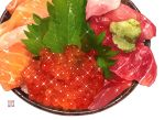 beef chicken_(food) food meat momiji_mao no_humans original raw_meat realistic roe sparkle wasabi white_background