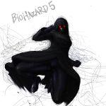 <ro bodysuit cloak female glowing_eyes high_heels hood jill_valentine mask red_eyes resident_evil resident_evil_5 solo