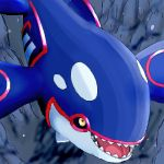 blue_body kyogre open_mouth pokemon undersea