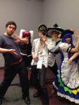 hinanawi_tenshi_(cosplay) kirisame_marisa_(cosplay) koakuma_(cosplay) mask touhou zun zun_hat