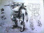 absurdres gase hawken highres mecha mecha_to_identify no_humans signature