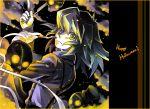 bakura_ryou cloud clouds fork halloween hat male naka_deiko skull suspenders top_hat yu-gi-oh! yuu-gi-ou yuu-gi-ou_duel_monsters