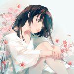 1boy blue_eyes brown_hair flower fuuchouin_kazuki getbackers highres long_hair papillon10 trap