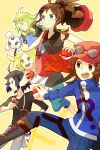 2girls 3boys ahoge bag bel_(pokemon) black_hair black_legwear blonde_hair boots brown_hair calme_(pokemon) calme_(pokemon)_(cosplay) cheren_(pokemon) citron_(pokemon) citron_(pokemon)_(cosplay) cosplay green_hair handbag holding holding_poke_ball jacket jumping kanade multiple_boys multiple_girls n_(pokemon) pleated_skirt poke_ball pokemon pokemon_(game) pokemon_bw pokemon_xy serena_(pokemon) serena_(pokemon)_(cosplay) skirt sunglasses sunglasses_on_head thigh-highs touko_(pokemon) touya_(pokemon) viola_(pokemon) viola_(pokemon)_(cosplay) zakuro_(pokemon) zakuro_(pokemon)_(cosplay)