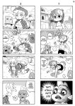 ... /\/\/\ 2girls 4koma all_fours animal_ears bespectacled bike_shorts boots breasts cleavage closed_eyes comic cowboy_hat crossed_arms dragon english fang flying_sweatdrops freckles furry glasses hat hat_removed headwear_removed jacket large_breasts looking_at_another meme monochrome motion_lines multiple_4koma multiple_girls musical_note my_little_pony my_little_pony_friendship_is_magic open_mouth personification shepherd0821 skirt smile spike_(my_little_pony) sweatdrop tail tank_top whistling wings wink