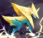 claws creature electricity manectric mega_pokemon no_humans pokemon pokemon_(creature) pokemon_(game) pokemon_xy red_eyes solo vu06