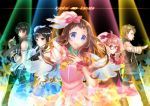 2boys 3girls arkray dress gloves idol kanbara_akihito kuriyama_mirai kyoukai_no_kanata multiple_boys multiple_girls nase_hiroomi nase_mitsuki shindou_ai spotlight wings