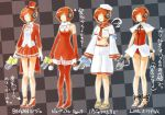 daigoman earphones elbow_gloves gloves high_heels legs meiko pantyhose red_legwear ribbon sailor sailor_suit sakine_meiko shoes skirt translated translation_request vocaloid young