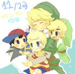 black_eyes black_hair blonde_hair blue_eyes hat link lowres lucas mother_(game) mother_2 mother_3 ness nintendo pointy_ears popupopo smile super_smash_bros. the_legend_of_zelda toon_link twilight_princess wind_waker