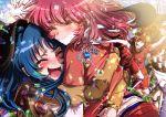 2girls blue_hair cherryinthesun closed_eyes highres hug kawashima_ami kushieda_minori long_hair multiple_girls pink_hair toradora!