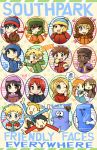 >:( >_< 5girls 6+boys anger_vein apple bags_under_eyes beanie beret black_hair blonde_hair blue_eyes book brown_eyes brown_hair catchphrase censored_text character_request chibi child cigarette closed_eyes coat copyright_name craig_tucker dark_skin dress dual_persona eating english eric_cartman everyone facial_hair flying_sweatdrops food frown fruit gloves green_eyes hamster hat heart hoodie kataro kenny_mccormick kyle_broflovski long_hair low_twintails middle_finger multiple_boys multiple_girls mustache open_mouth orange_hair parted_lips profanity redhead ribbed_sweater ruby_tucker shoes smile smoke south_park stan_marsh striped striped_background sweater taco tagme thought_bubble thumbs_up token_black tongue tongue_out towelie turtleneck tweek_tweak twintails violet_eyes wendy_testaburger wink