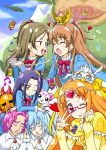 :p baritone bassdrum blue_hair blush brown_hair cat circlet closed_eyes crescendo_tone cupcake cure_muse_(yellow) dodory dory fairy_tone falsetto_(suite_precure) fary floating_island frills giant glasses green_eyes green_hair hair_ribbon heart houjou_hibiki hummy_(suite_precure) kurokawa_eren lary long_hair mask minamino_kanade miry multiple_boys multiple_girls musical_note open_mouth orange_hair p-chan_(suite_precure) pink_hair precure purple_hair rery ribbon school_uniform side_ponytail singing smile suite_precure sun_man tiry tongue two_side_up v yellow_eyes yuuma_(skirthike)