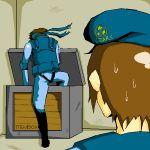 beret crossover jill_valentine metal_gear_solid parody resident_evil solid_snake