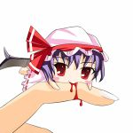 animated_gif artist_request bite biting blood blue31333 chibi finger_bite gif hands lowres minigirl remilia_scarlet touhou vampire wings