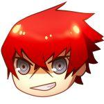 720yen grey_eyes grin lowres minazuki_sho persona persona_4:_the_ultimate_in_mayonaka_arena redhead scar short_hair smile yukkuri_shiteitte_ne