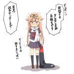 1girl blonde_hair brown_eyes highres kantai_collection long_hair solo ukami yuudachi_(kantai_collection)