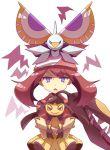 1girl angry blue_eyes haruka_(pokemon) masquerain mawile pokemon pokemon_(creature) shimatta