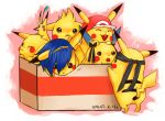 blue_hair box brown_eyes cardboard_box clothed_pokemon cosplay crying fire_emblem fire_emblem:_monshou_no_nazo fire_emblem_mystery_of_the_emblem hairy_pikachu hat headband in_container lucario lucas marth metal_gear_solid mother_(game) mother_3 no_humans parody pikachu pikmin pikmin_(creature) pokemon pokemon_(creature) pokemon_(game) pokemon_rgby pokemon_trainer red_(pokemon) red_(pokemon)_(remake) smile solid_snake super_smash_bros. super_smash_bros_brawl tears tiara too_many_pikachu waka_charoku