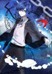 1boy arisato_minato blue_eyes blue_hair chain glasses persona persona_3 school_uniform slee solo yuuki_makoto