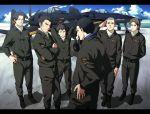 airplane chijiwa_takeo fighter_jet hasami_shinichi jet kannonji_hideaki matsuda_taichi midou_nagaomi military military_uniform natuichi-7212 pilot pilot_suit sugino_heisuke to_aru_hikuushi_e_no_yasoukyoku uniform