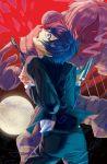 arisato_minato blue_eyes blue_hair evoker gun headphones male open_mouth orpheus persona persona_3 red_eyes school_uniform short_hair solo weapon yuuki_makoto