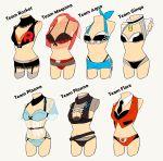 bra li_sakura mannequin no_humans panties pokemon team_aqua team_flare team_galactic team_magma team_plasma team_rocket thighhighs underwear
