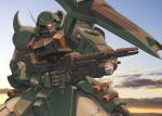 gundam gundam_seed gundam_seed_destiny highres machine_gun mecha snip solo weapon zaku zaku_warrior