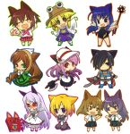 :< afterimage anger_vein animal_ears axe black_hair black_sclera blonde_hair blue_eyes blue_hair blush blush_stickers book boots brown_hair cape cat_ears character_request chibi closed_eyes copyright_request dress eye_contact gloves gradient_hair hair_over_one_eye hand_on_hip hat heterochromia hitec kneeling looking_at_another mace multicolored_hair multiple_girls necktie open_mouth outline purple_hair red_eyes rozen_maiden school_uniform serafuku simple_background skirt smile standing suiseiseki sword touhou violet_eyes weapon white_background white_hair wings