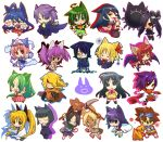 >_< :3 :o agumon ahoge animal_ears apron backbeard black_hair black_sclera blonde_hair blue_hair blush blush_stickers breasts brown_eyes cape cat_ears character_request chibi clenched_hand closed_eyes copyright_request crossed_arms crossover dark_skin digimon dress embarrassed eyepatch ghost glasses goggles goggles_on_head green_eyes green_hair hair_over_one_eye hair_ribbon hand_on_hip hands_on_hips hands_together highres higurashi_no_naku_koro_ni hitec izumi_konata japanese_clothes kneeling large_breasts long_hair looking_at_viewer looking_down looking_up lucky_star multiple_girls necktie nekomimi_mode open_mouth outline ponytail praying purple_hair red_eyes redhead ribbon rumia saigyouji_yuyuko scarf school_uniform scorpion_tail serafuku silhouette simple_background skirt sleeves_past_wrists slit_pupils sonozaki_mion standing straitjacket thighhighs touhou twintails very_long_hair weapon white_background wide_sleeves wings x3 yagami_taichi yellow_eyes zettai_ryouiki