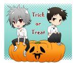 androgynous chibi english halloween ikari_shinji jack-o'-lantern jack-o-lantern male multiple_boys nagisa_kaworu neon_genesis_evangelion pumpkin shinjigen