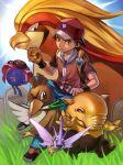1boy darkeagle_an drowzee farfetch'd gloom helix_fossil pidgeot pokemon pokemon_(game) pokemon_rgby red_(pokemon) tagme twitch_plays_pokemon venomoth