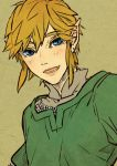 1boy blonde_hair blue_eyes copyright_request earrings irohaniwoedotirinuruwo jewelry link lips looking_at_viewer male open_mouth pointy_ears smile solo tagme the_legend_of_zelda