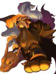 alternate_color arcanine charizard entei fire from_below green_eyes looking_at_viewer looking_down moiko ninetales no_humans open_mouth pokemon pokemon_(creature) ponyta quilava rapidash red_eyes shiny_pokemon simple_background white_background