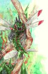 forest insect nature no_humans pokemon pokemon_(creature) realistic saliva tab_(squitter) wings yanmega