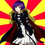 dress gradient_hair hijiri_byakuren long_hair macedonian_flag multicolored_hair solo touhou yellow_eyes