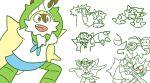 chesnaught kill_la_kill mankanshoku_mako_(cosplay) no_humans pokemon pokemon_(creature) pokemon_(game) pokemon_xy senketsu