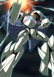 glowing gundam lightning mecha no_humans outline pose shouji_2 solo turn_a_gundam turn_x