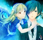 alice_(megami_tensei) arisato_minato blonde_hair blue_eyes blue_hair evoker hairband open_mouth persona persona_3 red_eyes school_uniform xxx_yc05 yuuki_makoto