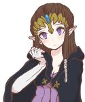 blue_eyes brown_hair cape gloves hood long_hair nintendo pointy_ears princess_zelda sunagimo_(nagimo) the_legend_of_zelda tiara twilight_princess