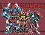 3boys drift mecha multiple_boys robot rodimus science_fiction simple_background transformers ultra_magnus