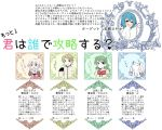 1boy 3girls blue_hair cape casual child dress green_hair grey_hair heart kamijou_kyousuke kyubey magical_girl mahou_shoujo_madoka_magica mahou_shoujo_madoka_magica_movie miki_sayaka mizuki_(flowerlanguage) momoe_nagisa multiple_girls polka_dot polka_dot_dress saliva school_uniform shizuki_hitomi smile spoken_heart two_side_up white_hair