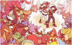 1boy 1girl abomasnow amaura archeops aromatisse bandana berries bike_shorts brown_hair budew chingling copyright_name croagunk darumaka dedenne drifloon emolga fingerless_gloves fletchling floette froslass gallade gloves gogoat gourgeist haruka_(pokemon) hat hawlucha haxorus ikra_(katacoly) lopunny munchlax pachirisu patrat pokedex pokemon pokemon_(creature) pokemon_(game) pokemon_oras pokemon_rse sawsbuck scolipede scrafty short_hair solosis stunfisk victini whimsicott yuuki_(pokemon)