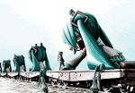 hatsune_miku railroad_tracks rxjx train twintails vocaloid