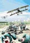 airplane albatros_d.v battle cart gun hatsune_miku military royal_aircraft_factory_s.e.5 rxjx twintails vocaloid weapon world_war_i