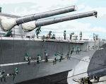 battleship bismarck cat clouds hatsune_miku military painting rxjx ship vocaloid