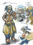 2girls graveler hariyama highres multiple_girls njike personification pokemon twitch_plays_pokemon