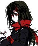 1girl black_hair glasses hair_ornament hairclip kagerou_project scarf school_uniform serafuku solo tateyama_ayano wonoco0916